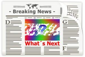 Symbolbild einer Zeitung mit neuesten Nachrichten, Breaking News